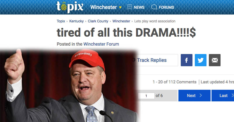 Jeff Hoover Releases Statement on Winchester Topix – The New Circle